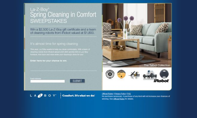 La-Z-Boy Spring Cleaning in Comfort Sweepstakes
