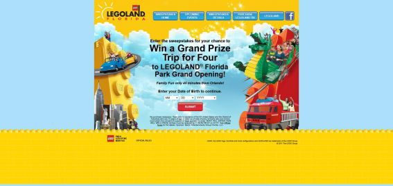 LEGOLAND Florida Sweepstakes