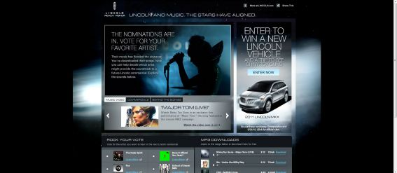 Lincoln Music Experience Sweepstakes