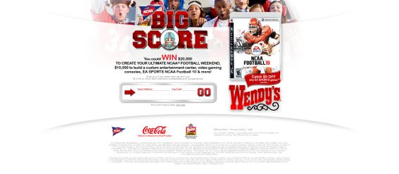 Coca-Cola and NCAA Football Big Score Promotion