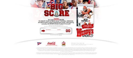Coca-Cola and NCAA Football Big Score Promotion