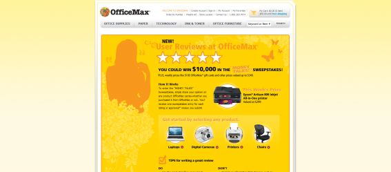 OfficeMax Money Talks Sweepstakes