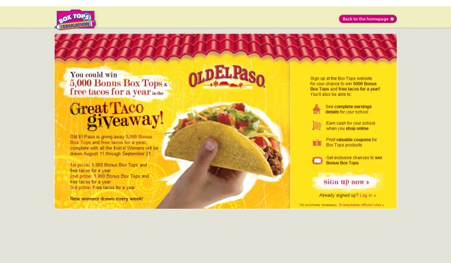 Old El Paso Great Taco Giveaway