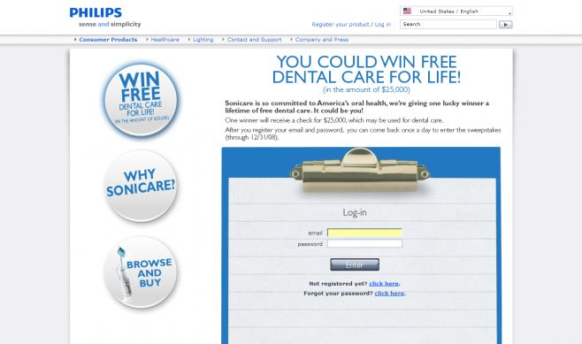 Free Dental Care For Life Sweepstakes