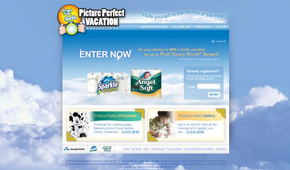 Angel Soft & Sparkle Picture Perfect Vacation Sweepstakes