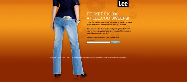 Lee Jeans Sweepstakes
