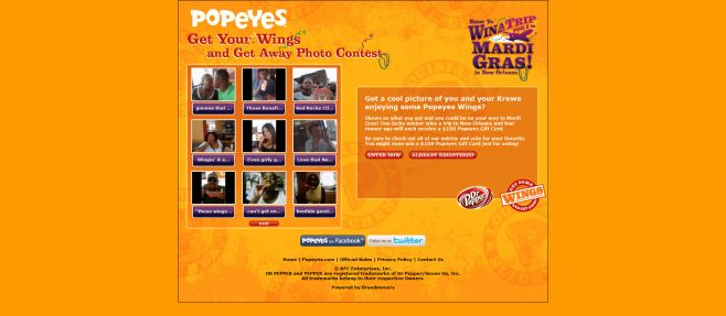 Popeyes Get Your Wings and Get Away Contest and Sweepstakes