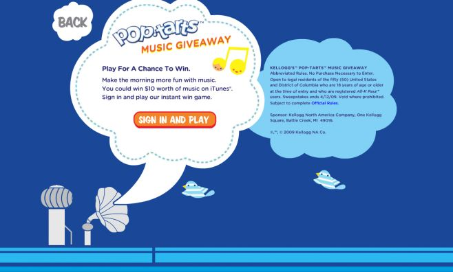 Kellogg's Pop-Tarts Music Giveaway