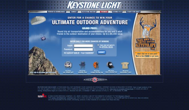 Keystone Light Hunting Sweepstakes