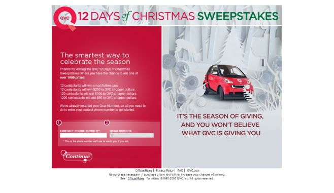 QVC 12 Days of Christmas Sweepstakes