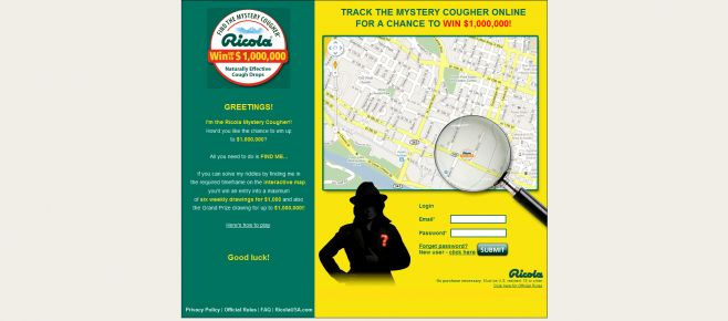 Ricola Mystery Cougher Game
