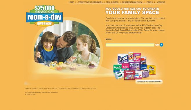 Kimberly-Clark Room-A-Day Giveaway III