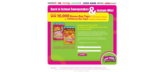 Safeway Back to School Sweepstakes & Instant Win