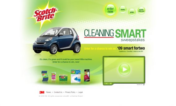 Scotch Brite Cleaning Smart Sweepstakes