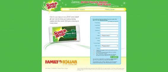 Family Dollar Gift Card Sweepstakes