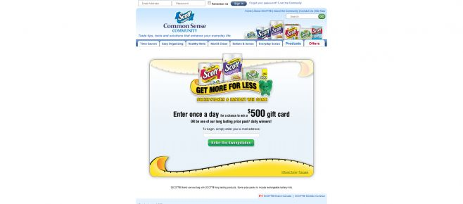 Scott Brand Get More For Less Sweepstakes And Instant Win Game