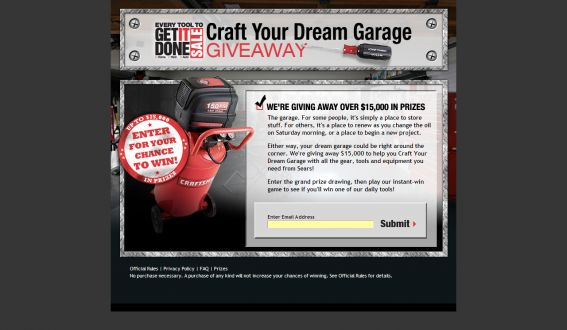 Sears Craft Your Dream Garage Giveaway