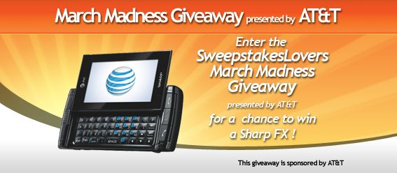 SweepstakesLovers.com March Madness Giveaway presented by AT&T