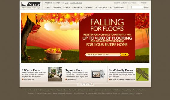 Shaw Industries Falling For Floors Instant Win and Sweepstakes