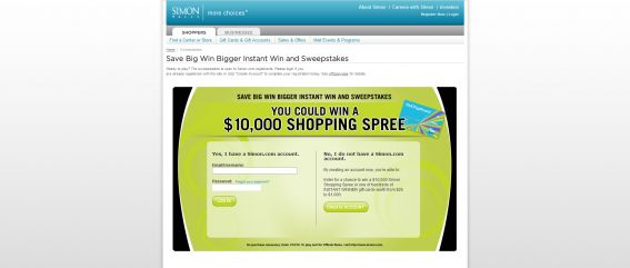 Save Big Win Bigger Instant Win and Sweepstakes