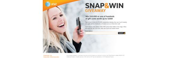 AT&amp;T Snap &amp; Win Giveaway Sweepstakes - Att.promo.eprize.com/snap