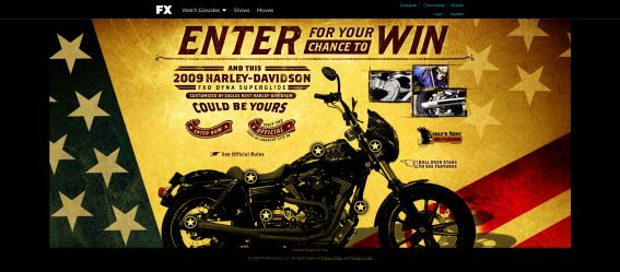 Sons of Anarchy Motorcycle Giveaway Sweepstakes