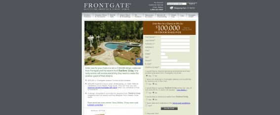 Frontgate Southern Living Outdoor Makeover Sweepstakes
