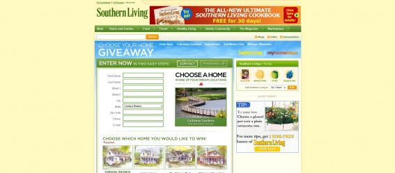Southern Living Choose Your Home Giveaway
