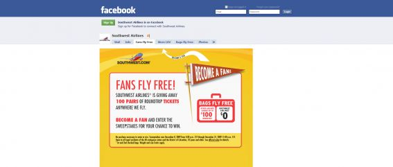 Southwest Airlines Fans Fly Free Sweepstakes