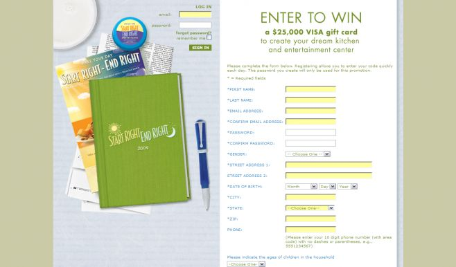 Dean Foods Start Right End Right Sweepstakes