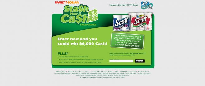 Family Dollar Stash Your Cash Sweepstakes