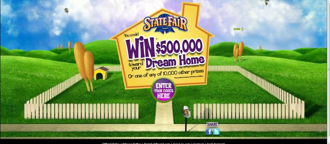 State Fair Win $500,000 Towards Your Dream Home Instant-win Game
