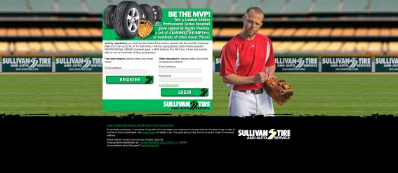 Sullivan Tire MVP Scratch, Match & Win Game