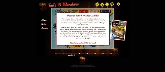Ted's Montana Grill Ted's 8 Wonders Sweepstakes