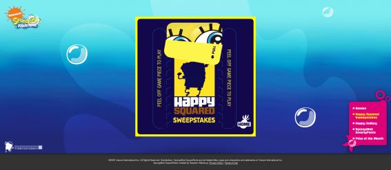 SpongeBob Happy Squared Sweepstakes