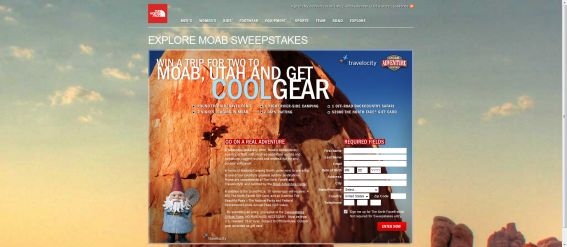 The North Face Moab Explore Sweepstakes