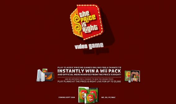 The Price is Right Video Game Promotion