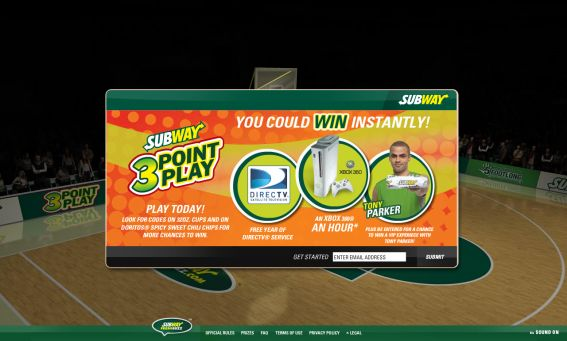 Subway 3-Point Play Promotion