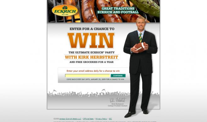 Ultimate ECKRICH Party with Kirk Herbstreit