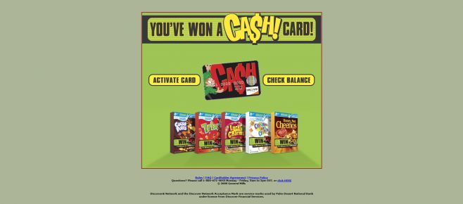 General Mills Big G Cash Card Giveaway