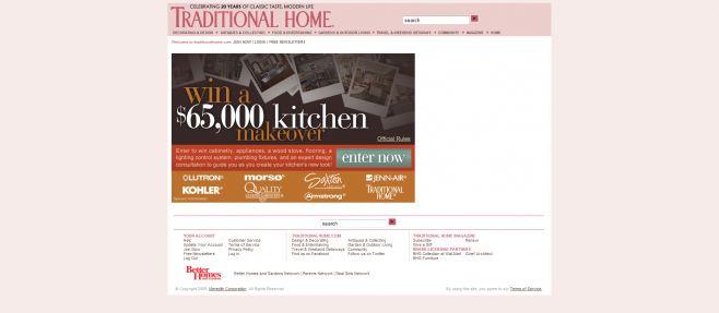 Traditional Home Kitchen Makeover Sweepstakes