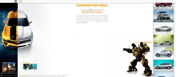 Chevy Transform Your Garage Sweepstakes at ChevyTransformYourGarage.com