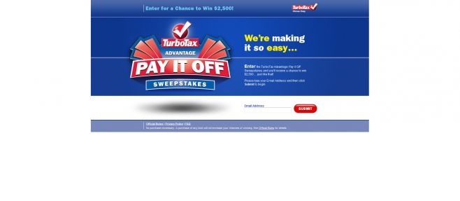 TurboTax Pay it Off Sweepstakes