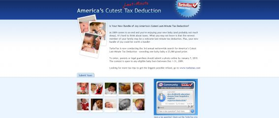 America's Cutest Last-Minute Tax Deduction Contest
