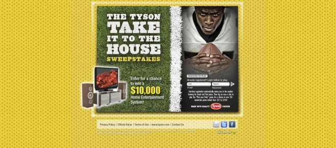 Tyson Take It to the House Sweepstakes