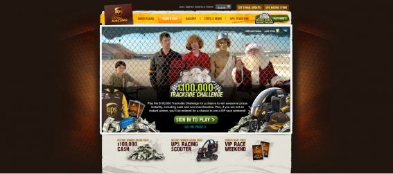 UPS $100,000 Trackside Challenge Instant Win Game and Sweepstakes