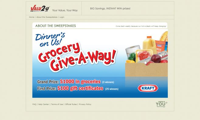 SuperValu Valu2-U P4 Sweepstakes