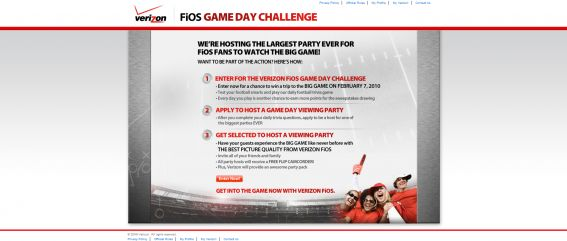 Verizon FiOS Game Day Challenge