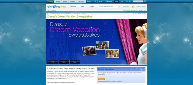 Disney's Dream Vacation Sweepstakes