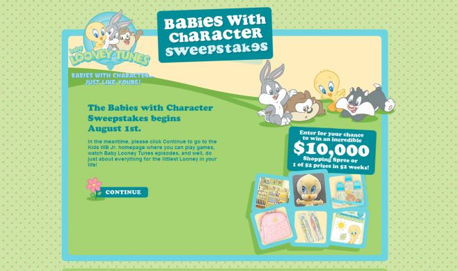 Warner Bros. – Baby Looney Tunes Babies with Character Sweepstakes